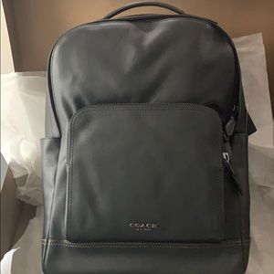 Men's Leather Coach Backpack